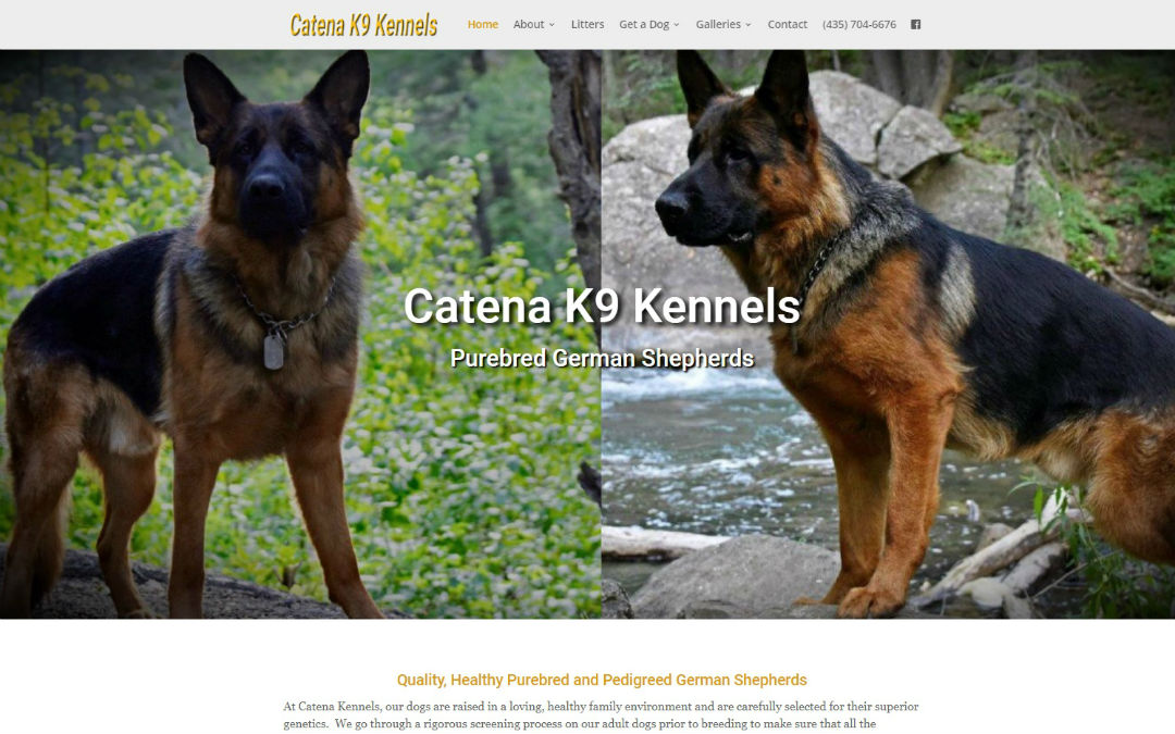 Catena Kennels Home Screen 1080×675